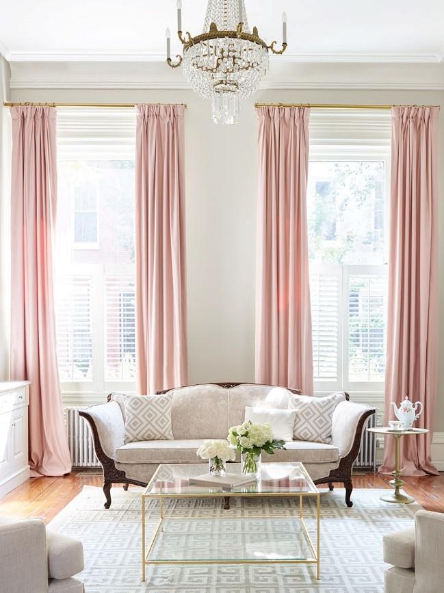 Enamor ndote del rom ntico color rosado casa muebles - El mueble cortinas ...